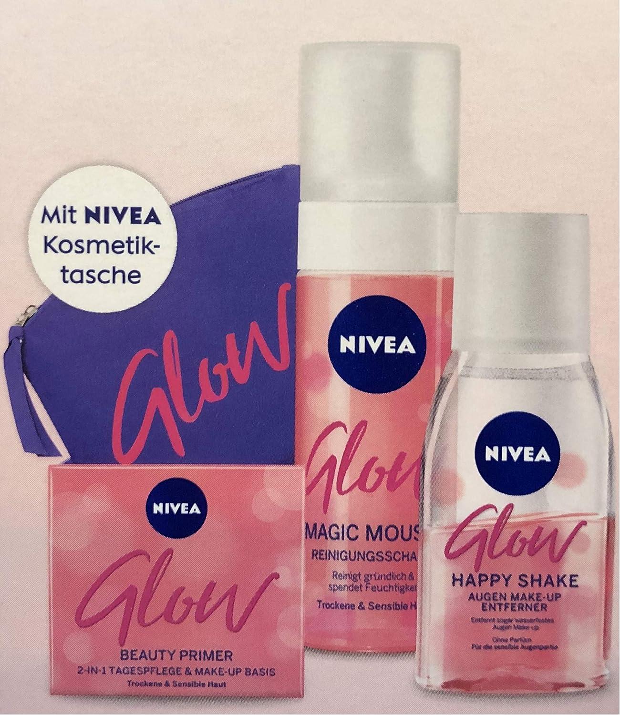 NIVEA Glow - Estuche de cosméticos (cosméticos y cosméticos), diseño de mousse mágico: Amazon.es: Belleza