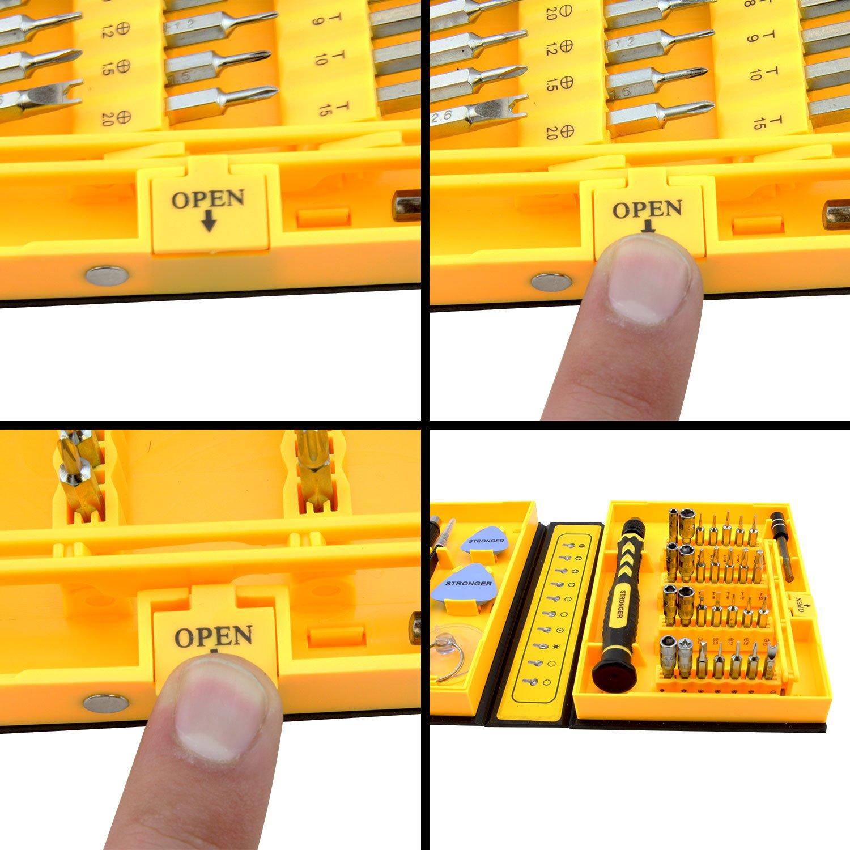 LB1 High Performance New Premium Tools Kit for Asus 15.6'' Touch-Screen Laptop 8GB Memory 1TB Hard Drive Black Q550LF-BBI7T07 Multipurpose 38-Piece Precision Screwdrivers Repair Tools Set by LB1 High Performance (Image #6)