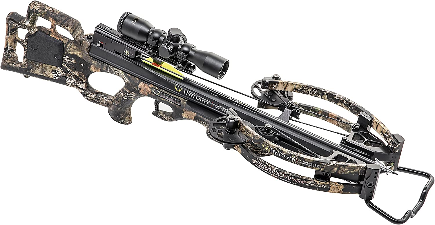 Tenpoint CB18018-5824 Shadow NXT Crossbow Package with Pro-View 2 Scope, Quiver, and Arrows