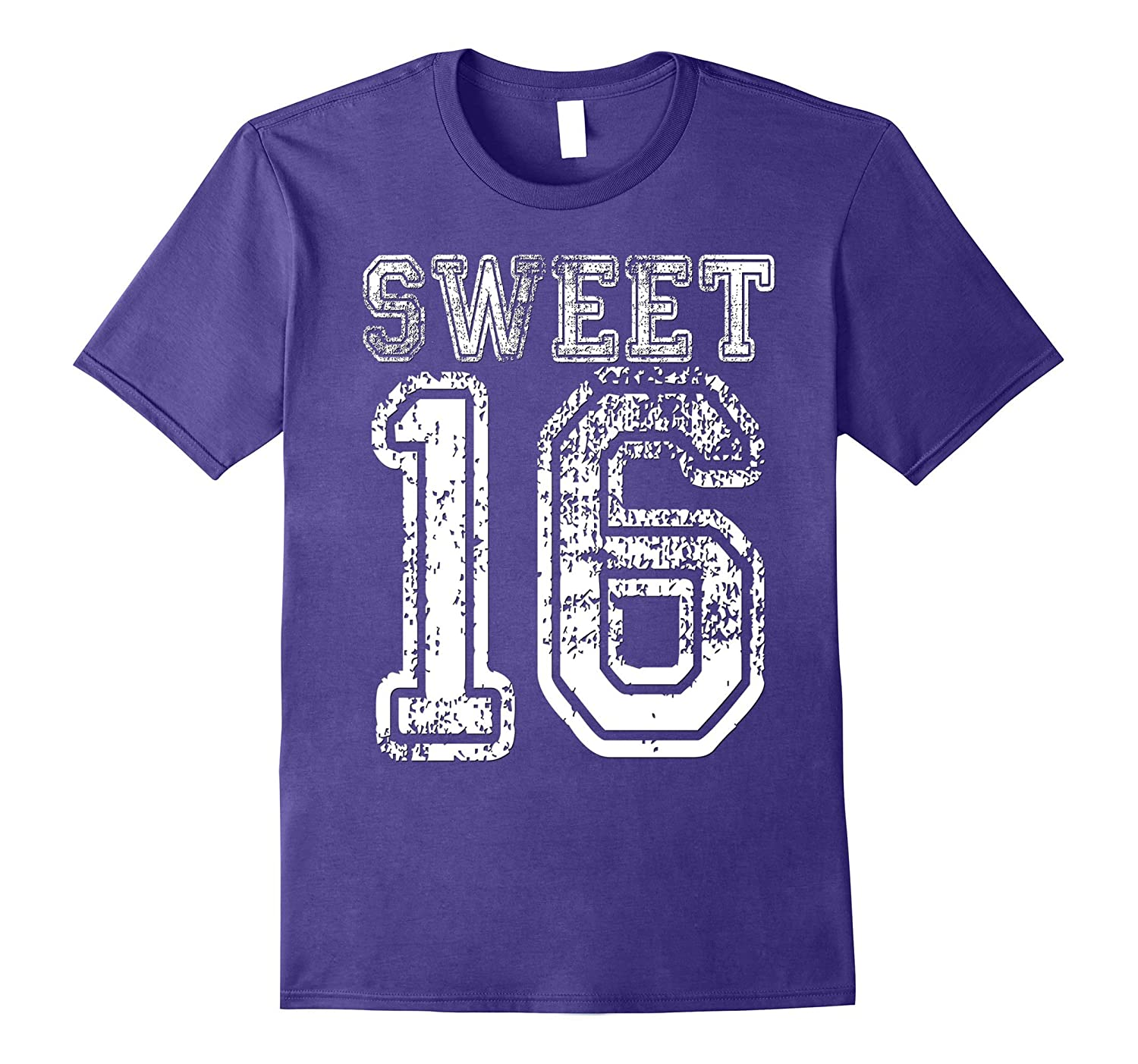16th Birthday Shirt Gift Teen Sweet Sixteen 16 Varsity Crack-TH