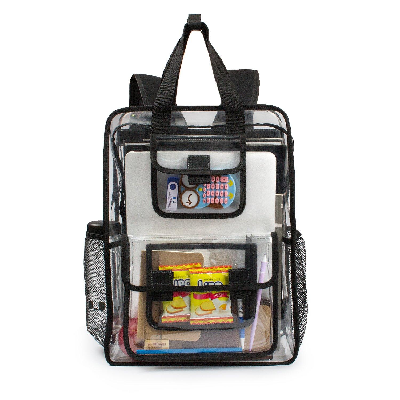 5e6a2d3756f9 Estarer Clear Backpack Security Students Bag Transparent Bookbag Travel  Beach Satchel Work Daypack