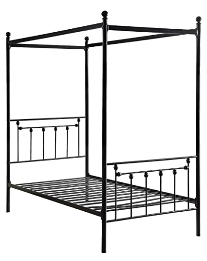 Amazon.com: Homelegance 1761T-1 Chelone Metal Canopy Twin Bed, Black ...