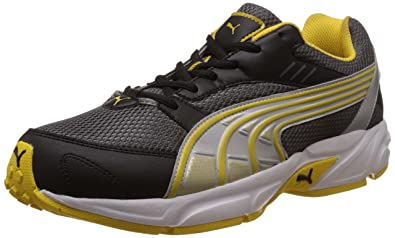 Puma Men s Pluto DP Dark Shadow-Dandelion-Silver Running Shoes - 10UK India b4bbb2030