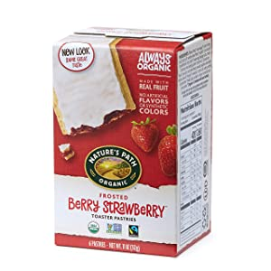 Nature's Path Frosted Berry Strawberry Toaster Pastries, Healthy, Organic, 11-Ounce Box