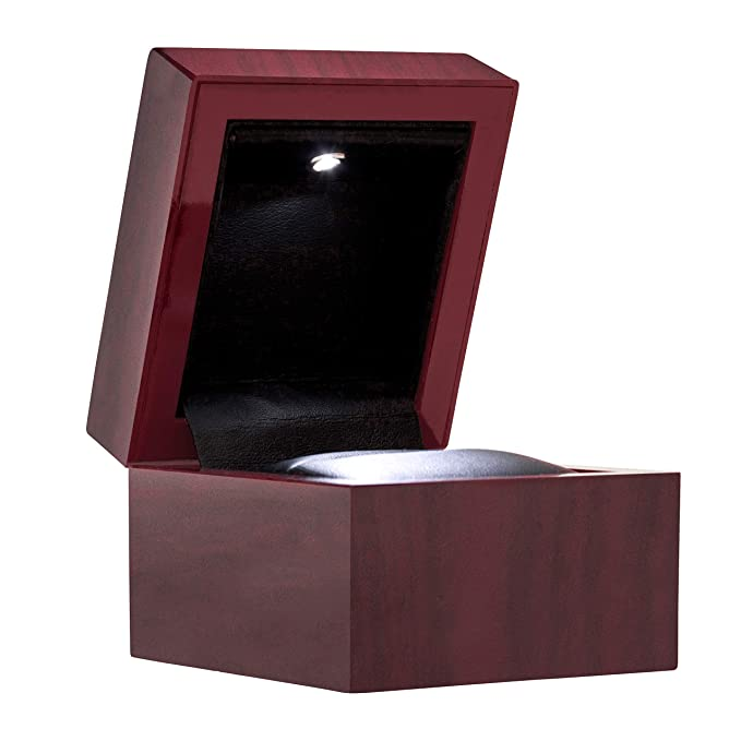 Amazon.com: Noble anillo de compromiso caja de luces LED ...