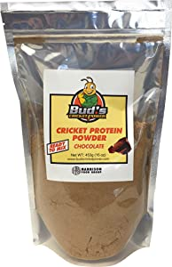 Chocolate Cricket Protein Powder (1lb) by Bud's Cricket Power   Sustainable Insect Protein (Cricket Protein/Cricket Flour)   Let Bud's Power Up Your Protein Shake with This Delicious Bug Protein