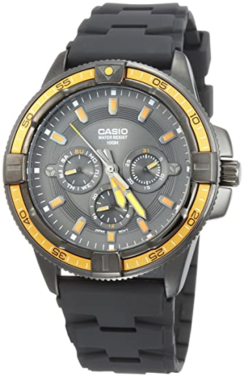 Casio MTD1068B1A2 - Reloj de Caballero Caucho Naranja: Casio: Amazon.es: Relojes
