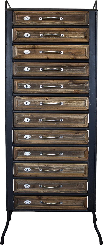 maxioccasioni cajonera madera y hierro estilo industrial 12cajones semanal Mobile 48x 30x 130H cm
