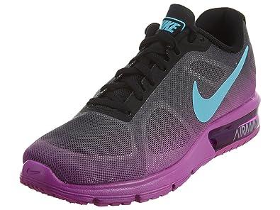 9d10e9709d43 Nike Women s Air Max Sequent Running Shoe Black Hyper Violet Dark Grey Gamma  Blue Size 9.5 M US  Amazon.in  Shoes   Handbags