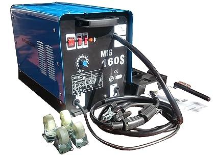 Mig Mag 160 relleno alambre + Protección Gas combinado sudor ...