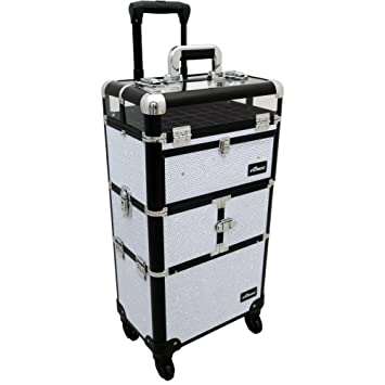 72cbd25f665f Amazon.com   Sunrise Centani 2-In-1 Rolling Makeup Case Professional Nail  Travel Organizer Box