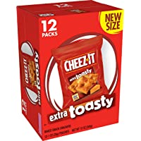 Cheez-It, Baked Snack Cheese Crackers, Extra Toasty, 12oz Box(Pack of 4)