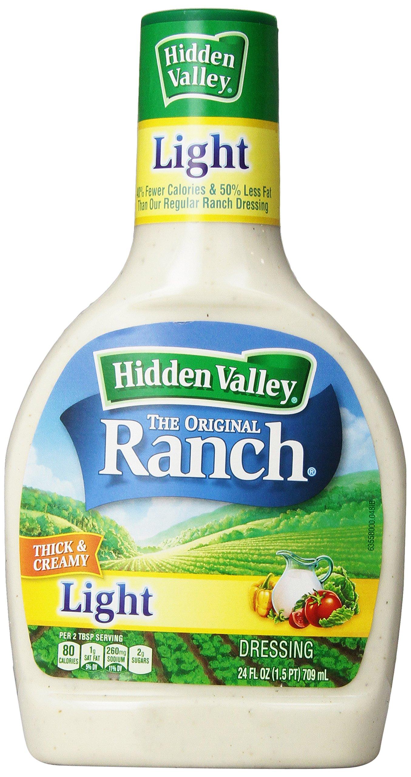 Hidden Valley Ranch Dressing, Light, 24 oz