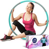 HiMont Weighted Hula Hoop for Adults, Detachable Fitness Hula Hoops for Exercise with Stainless Steel Core & Soft Foam…