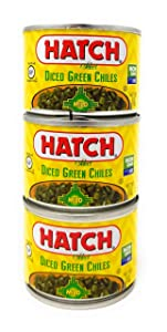 Hatch Farms Fire-roasted Diced Green Chiles Mild - Pack of 3