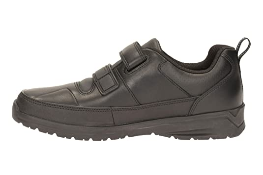 141f473a569b1 Clarks Boys School Reflectace Inf Leather Shoes in Black Narrow Fit Size 11:  Amazon.co.uk: Shoes & Bags