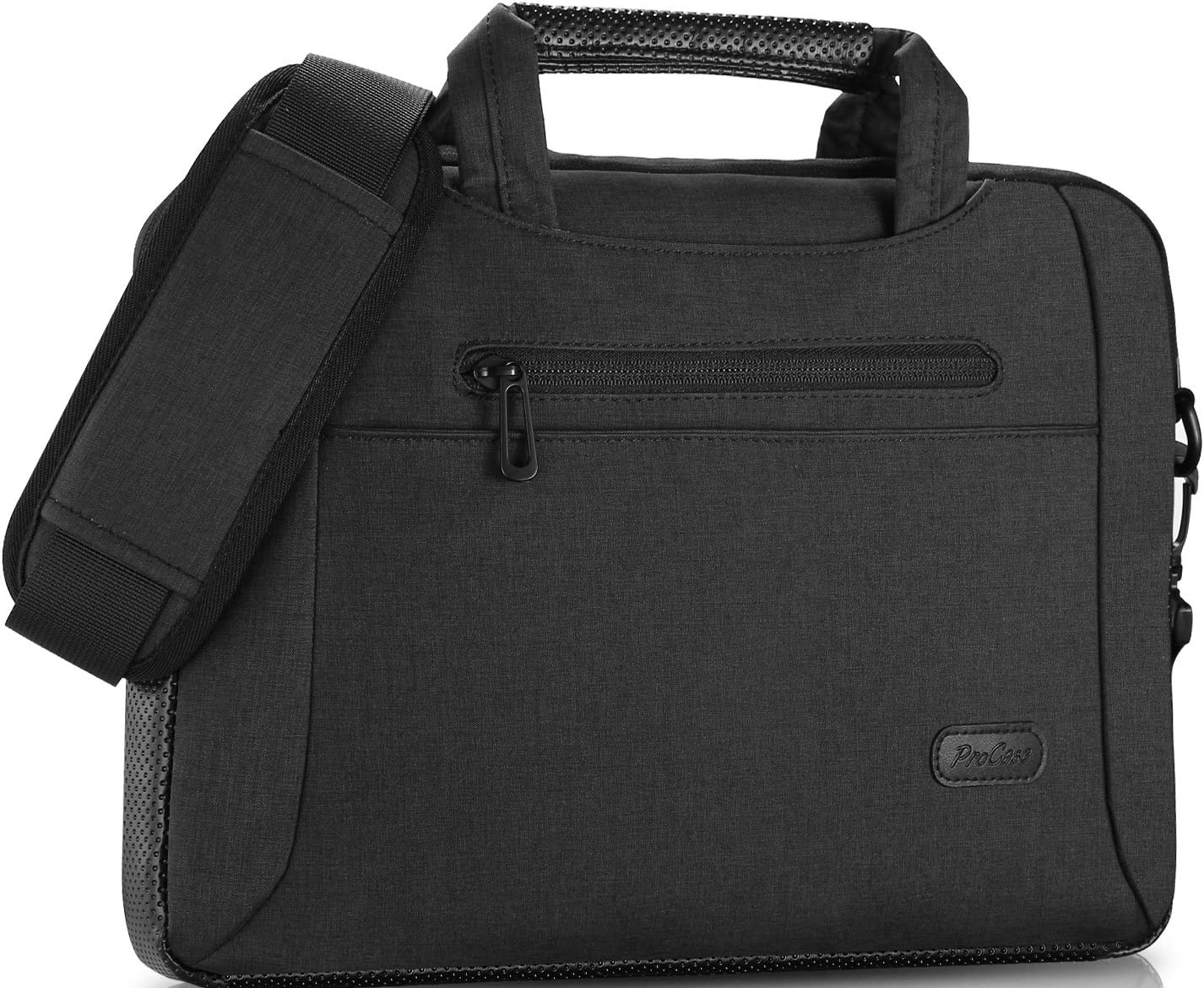 "ProCase 11-12 Inch Laptop Messenger Shoulder Bag Briefcase Sleeve Case for 12"" MacBook Surface Pro X 2017/Pro 7 6 4 3, 11 12 Inch Laptop Ultrabook Tablet Notebook MacBook Chromebook Computer -Black"