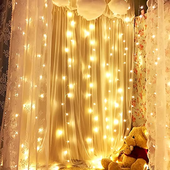 Curtain Icicle Lights String 98 X 98ft 320 LED Starry Fairy For