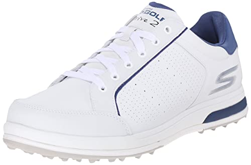 Skechers Performance Men's Go Golf Drive 2 Golf Shoe, White/Navy, ...