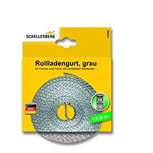 Schellenberg 41102 - Cinta de persiana (14 mm de ancho, 12 m) color gris