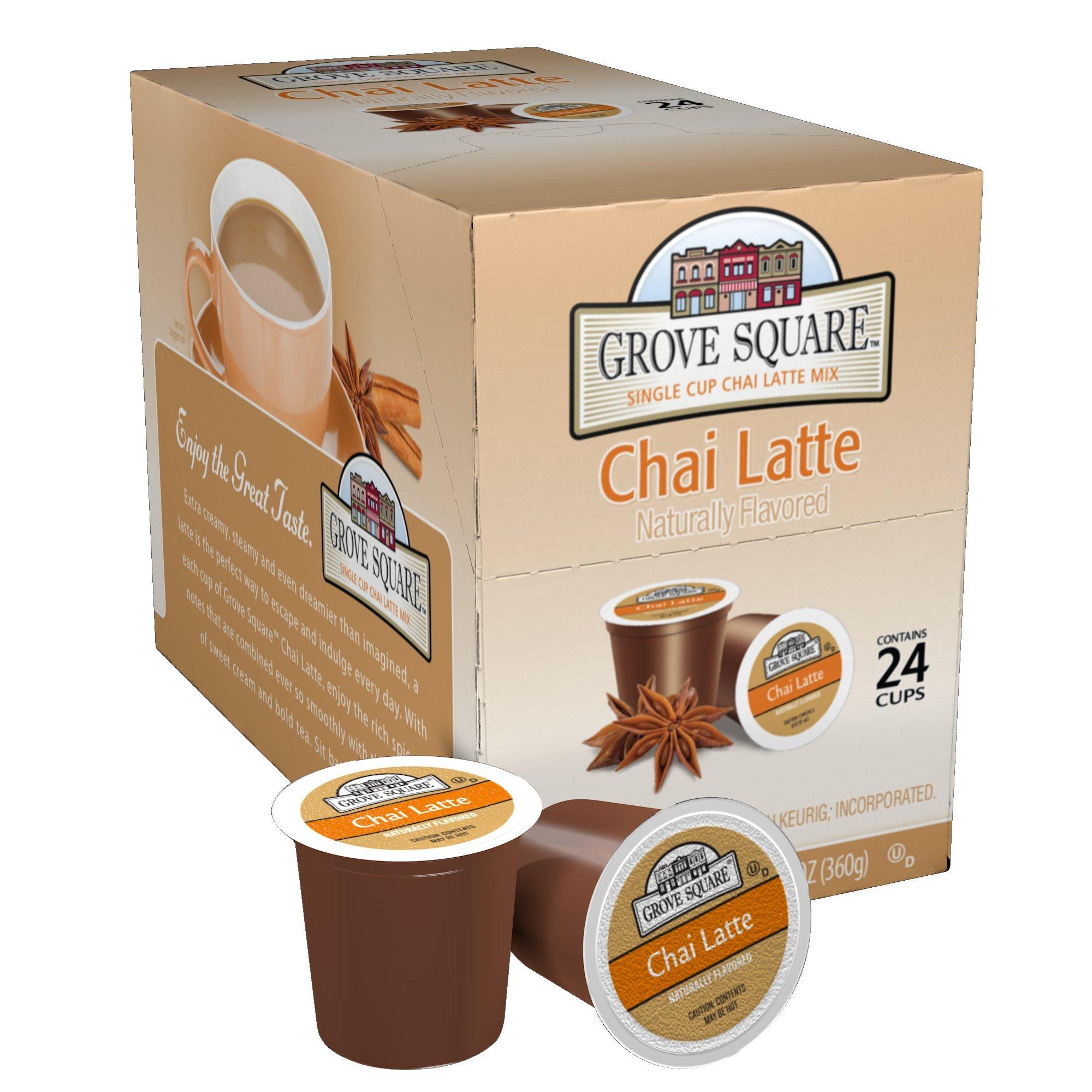 Grove Square Tea, Chai Latte, 24 Single Serve Cups by Grove Square