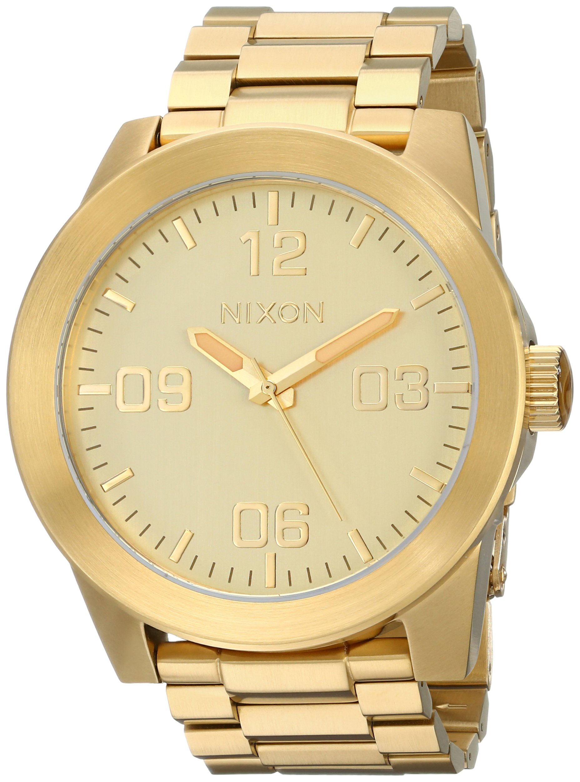 Nixon Men's Corporal Stainless Steel Watch One Size Gold Tone