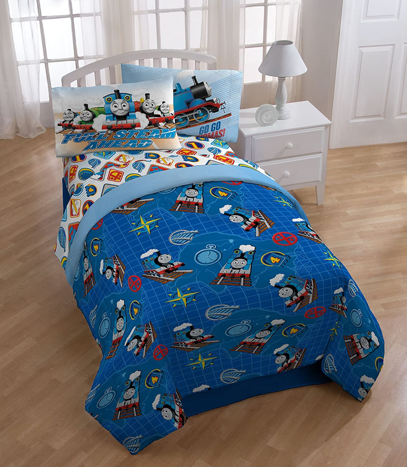 Amazon.com: Thomas The Tank Engine U0027Go Gou0027 Microfiber Twin Comforter: Home  U0026 Kitchen