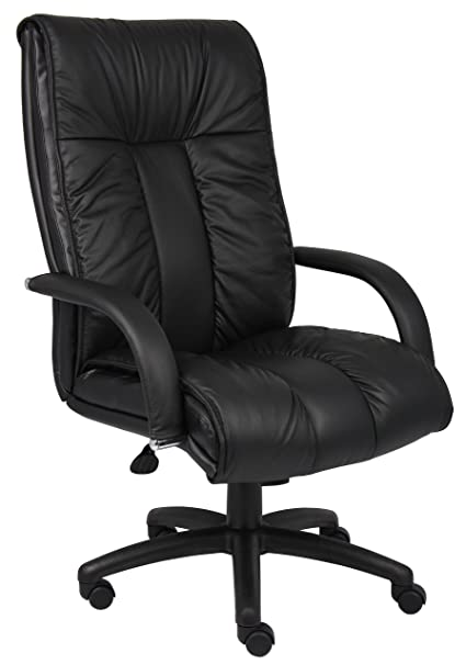 amazon com boss office products b9301 italian leather high back