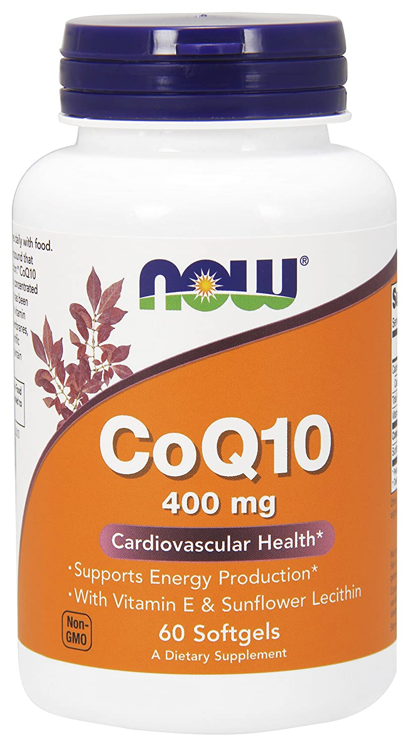 NOW Supplements, CoQ10 400 mg, Pharmaceutical Grade, All-Trans Form produced by Fermentation, 60 Softgels