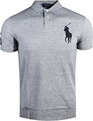 9f6060da Polo Ralph Lauren Mens Custom Fit Big Pony Logo Polo Shirt