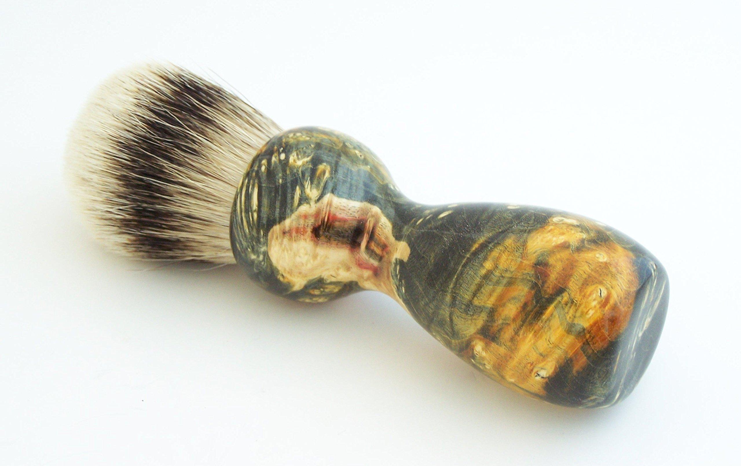 Gold and Black Box Elder Burl Wood 24mm Super Silvertip Shaving Brush (BEB40)