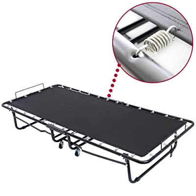 Layout 75x31.5-Inch Metal Folding Bed Frame with Memory Foam Mattress