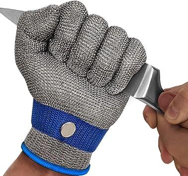 Guantes resistentes a los cortes Guante resistente a los cortes de malla de la herramienta de protecci/ón de carnicero de acero inoxidable