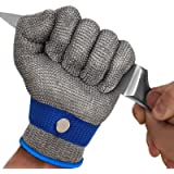 MAFORES Cut Resistant Glove Level 9 Stainless Steel Wire Metal Mesh Butcher Safety Work Glove for Meat Cutting, Fishing…