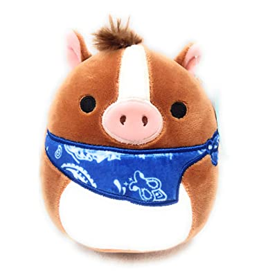 "SQUISHMALLOWS 5"" Plush Stuffed Animal Cowboy Horse with Neckerchief Farm Squad: Toys & Games"