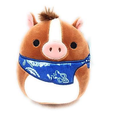 "SQUISHMALLOWS 5"" Plush Stuffed Animal Cowboy Horse with Neckerchief Farm Squad: Toys & Games"