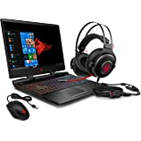 HP OMEN 15 Gaming Laptop Intel 6-Core i7-9750H 2.6GHz, 16GB, 256GB SSD, 15.6 FHD 144Hz, NVIDIA GTX 1660Ti 6GB, Win 10, (Includes OMEN Mouse 400 - OMEN Headset 800, Eng Keybaord, Black