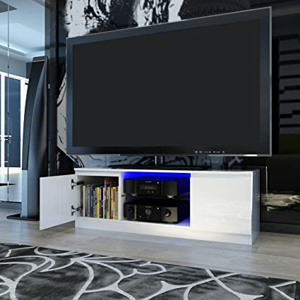 Panana Modern Designs Living Room Furniture Tv Stand With Led Storage Cabinet Extra Large Unit 120 39 40cm White Amazon Co Uk Kitchen Home