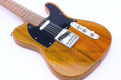 Guitarra en miniatura RGM74, guitarra de colección, decorativa, guitarra rockera,