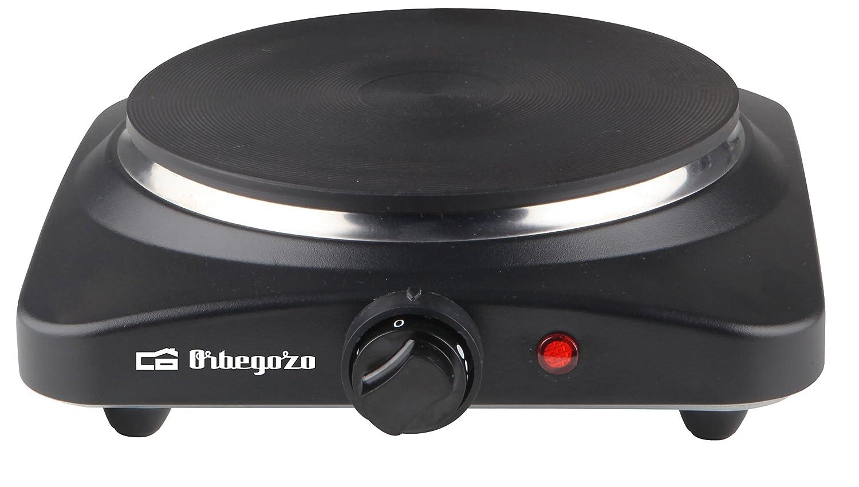 Orbegozo PE 2810 - Placa eléctrica de cocina portatil, un quemador (18,5 cm), 1500 W y termostato de intensidad regulable