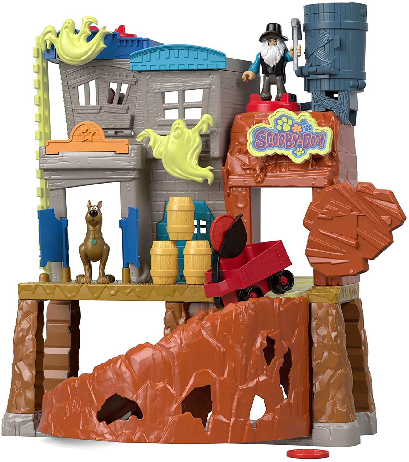 Fisher Price Imaginext Scooby-Doo Haunted Ghost Town, Multi Color FMX96