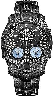 01925de763f JBW Luxury Men s Jet Setter III 1.18 ctw Diamond Wrist Watch with Stainless  Steel Link Bracelet