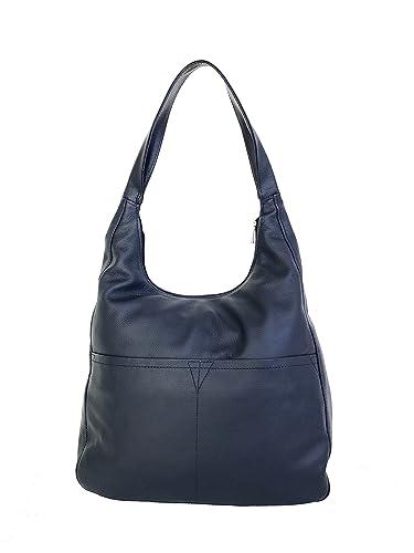 7b95a5ae2f47 Amazon.com  Fgalaze Blue Leather Hobo Bag Purse with Pockets ...