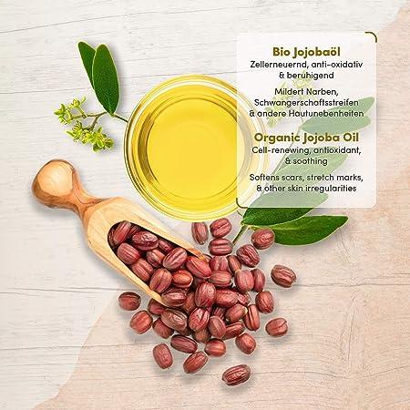 GANADOR 01/20* Aceite de Jojoba ORGÁNICO - Vegano + Prensado en Frío - Rico en Vitamina E para una Piel Suave y Pelo y Uñas Sanas - Envasado en Botella de Vidrio de 100 ml - 100% Puro y Natural