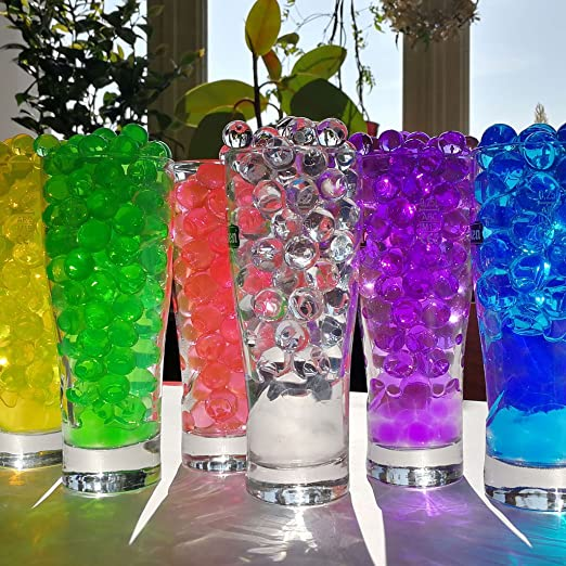 6 juegos de perlas de agua para flores de 1 cm de diámetro.: Amazon.es: Hogar