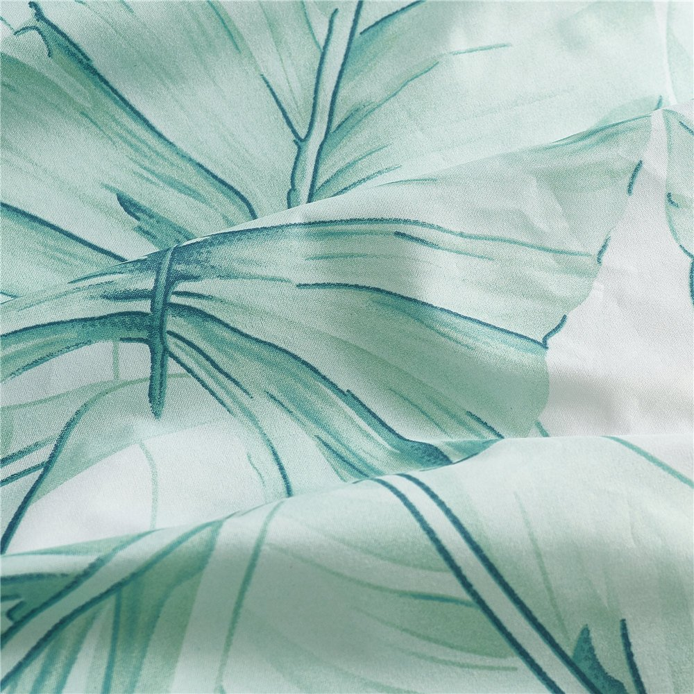 Twin Size NS-boluo-twin ADASMILE A /& S Leaf Bedding Duvet Cover Set Blue White Pineapple Pattern Bedding Comforter Cover Set for Girls Women