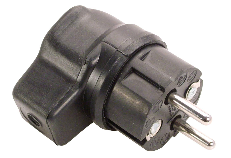 as - Schwabe 62207 Winkel-Stecker 230V, IP44 Gewerbe Baustelle
