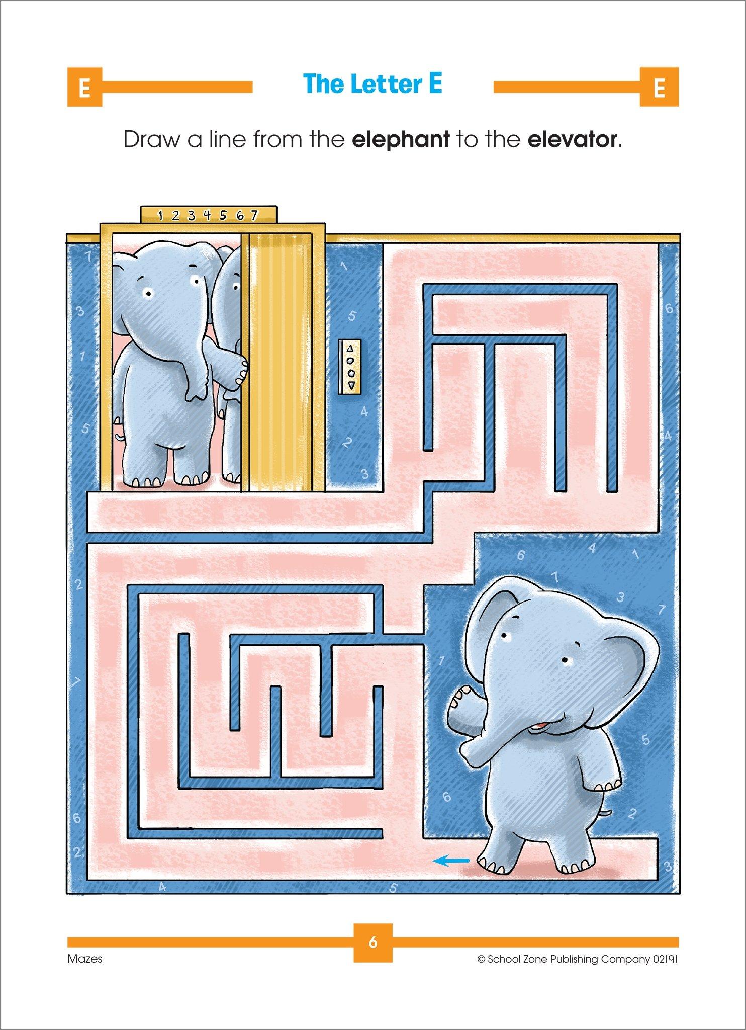Mazes Animals Activity Zone Workbook Ages 4-6: Jennifer Neumann ...