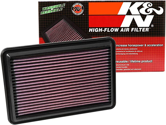 K&N 33-5016 Filtro de Aire Coche, Lavable y Reutilizable: Amazon.es: Coche y moto
