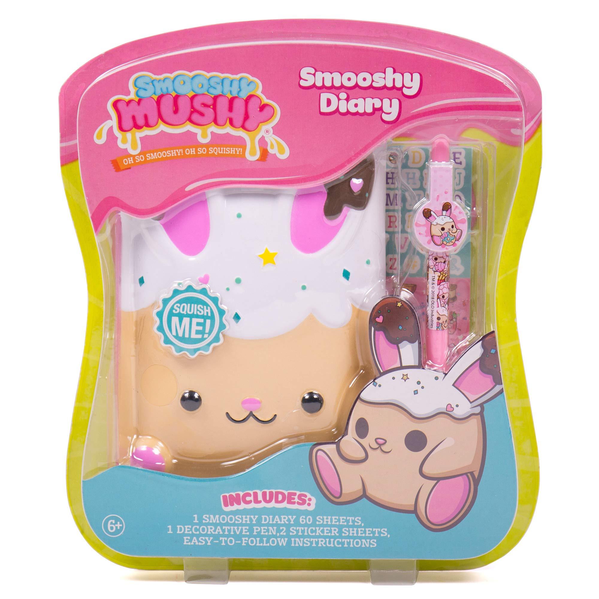 Smooshy Mushy Secret Smooshy Bunny Diary by Horizon Group USA, Multi by Smooshy Mushy